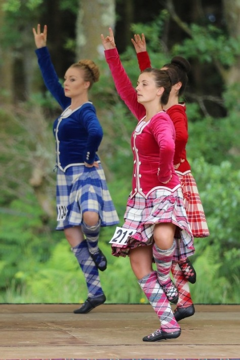 3 highland dancers perform